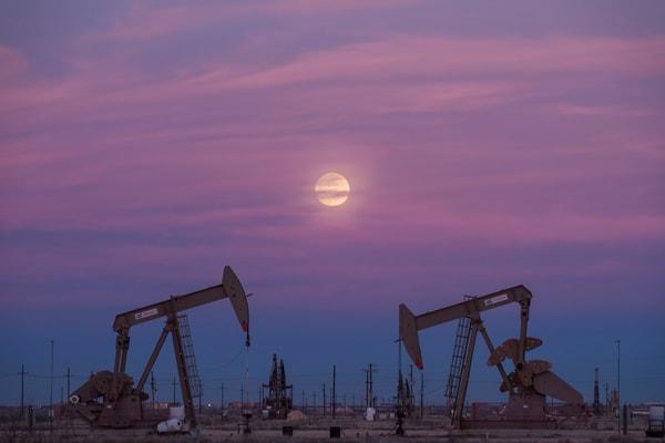 West Texas Moonrise, Midland, Texas