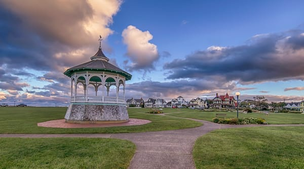 Oak Bluffs Bandstand Clouds Art | Michael Blanchard Inspirational Photography - Crossroads Gallery
