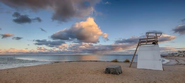 Inkwell Lifeguard Chair Clouds Art | Michael Blanchard Inspirational Photography - Crossroads Gallery