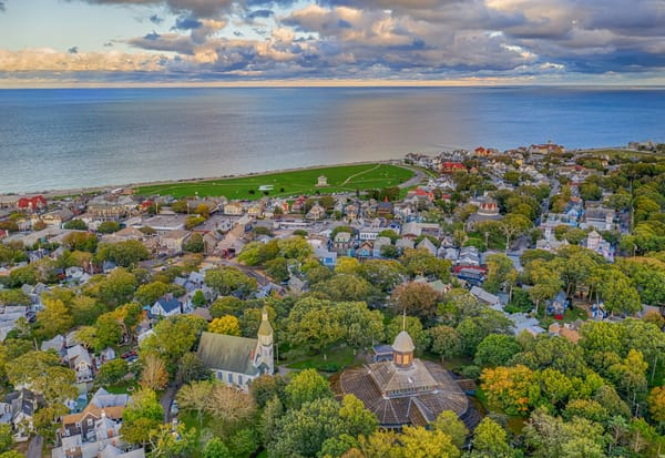 Town Of Oak Bluffs Aerial Art | Michael Blanchard Inspirational Photography - Crossroads Gallery