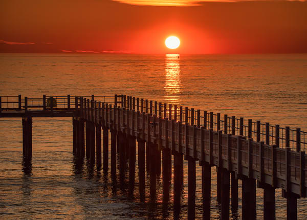 Fishing Pier Sun Art | Michael Blanchard Inspirational Photography - Crossroads Gallery
