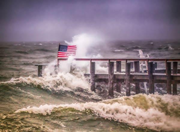 Ob Storm Flag Art | Michael Blanchard Inspirational Photography - Crossroads Gallery