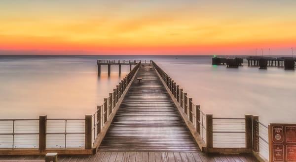 Fishing Pier Golden Sunrise Art | Michael Blanchard Inspirational Photography - Crossroads Gallery