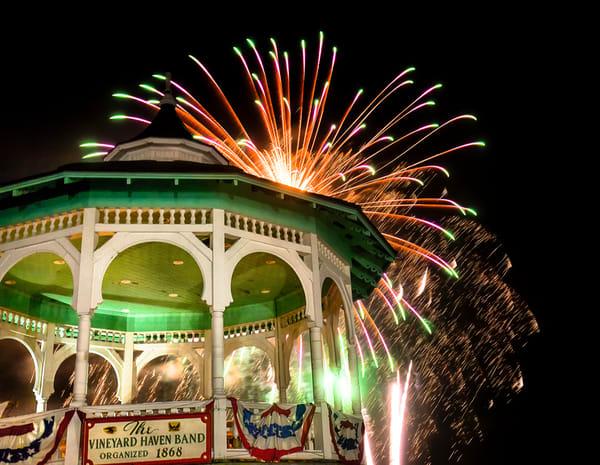 Bandstand Fireworks Art | Michael Blanchard Inspirational Photography - Crossroads Gallery