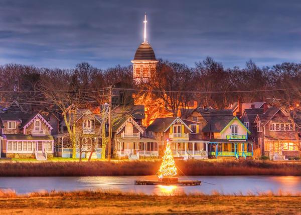 Sunset Lake Christmas Card Art | Michael Blanchard Inspirational Photography - Crossroads Gallery