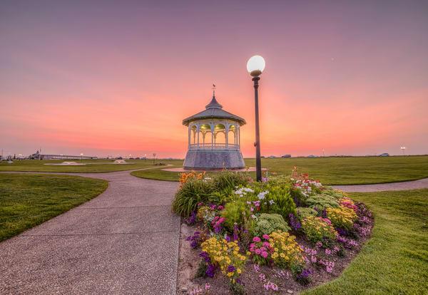 Bandstand Pink Sunrise Art | Michael Blanchard Inspirational Photography - Crossroads Gallery