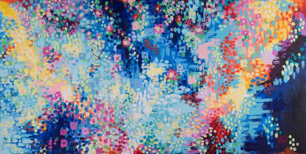 Horizontal Blue Art | Jessica Hughes Fine Art