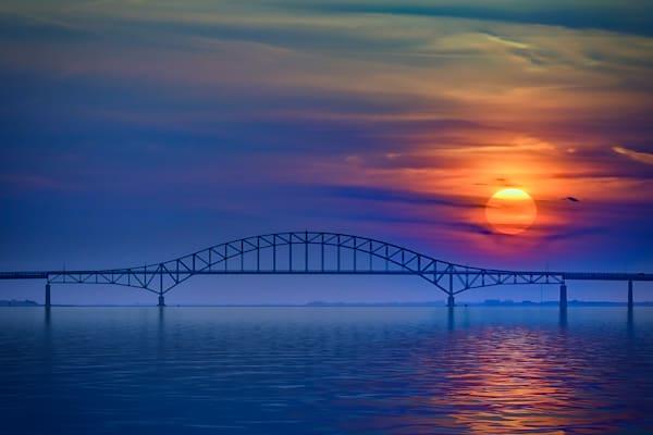 Sunset Over Robert Moses Causeway by Rick Berk