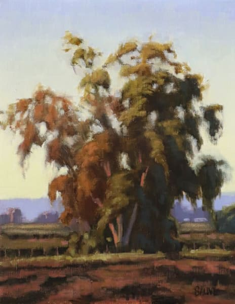 Terry Sauve oil painting, Trees and Fields
