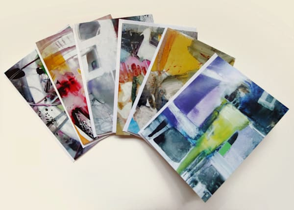 Abstract Cards - Packet of 6 - All designs
