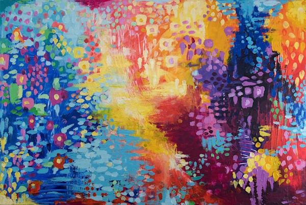 Color Dance, Original Painting Art   Jessica Hughes Fine Art