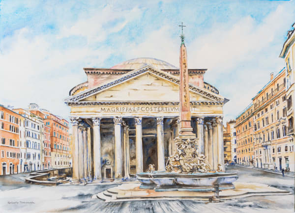 Paintings of the Fountains of Rome for Sale | Kimberly Cammerata