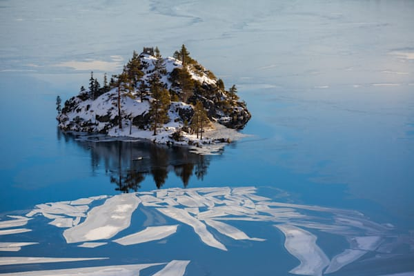 First Light on a Snowy Fannette Island