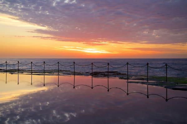 Purple Bogey Sunrise - The Bogey Hole Newcastle NSW Australia