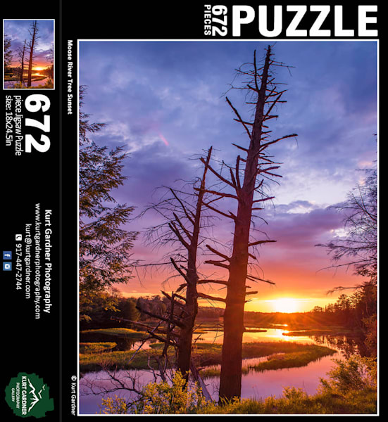 Moose River Tree Sunset