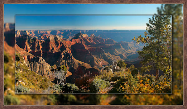 Grand Canyon North Rim 3D Bronze Narrow 3D Art Print