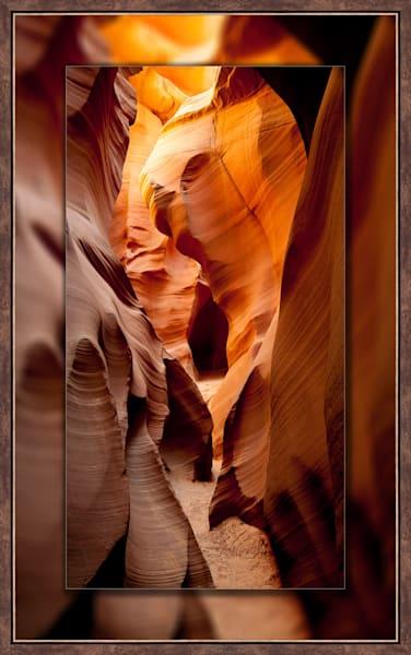 Antelope Canyon - Rabbit Pano 3D Bronze Narrow 3D Art Print