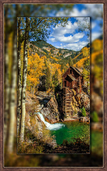 Crystal Mill - The Old Mill Pano V 3D Bronze Narrow