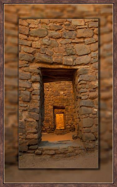 Aztec Doorway Pano 3d Bronze Narrow