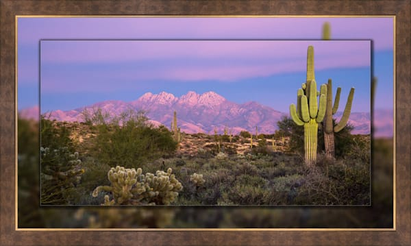 Four Peaks  - Painted with Light Pano 3D Bronze Wide