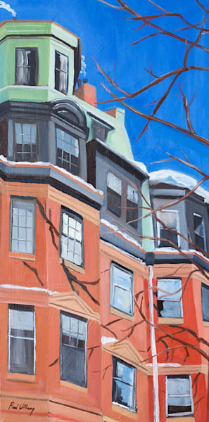 Winter on Marlborough Street by Paul William | Fine Art for Sale