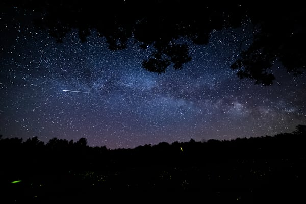 The Milky Way Fireflies And Shooting Stars Photography Art | Nathan Larson Photography