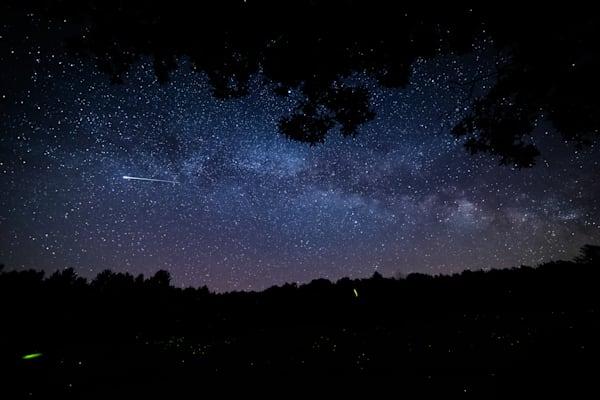 The Milky Way Fireflies And Shooting Stars Photography Art | Nathan Larson Photography, LLC