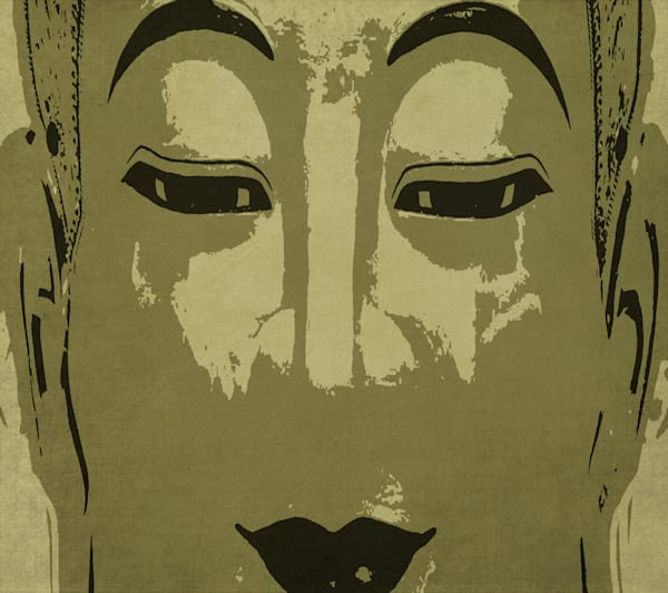 Buddha In Gold And Charcoal Art | Grimalkin Studio