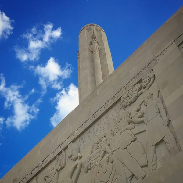 Liberty Memorial Blue Skies Photography Art | Lisa Kiene Photography
