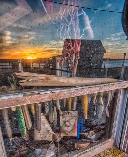 Menemsha Window Fishing Lures Art | Michael Blanchard Inspirational Photography - Crossroads Gallery