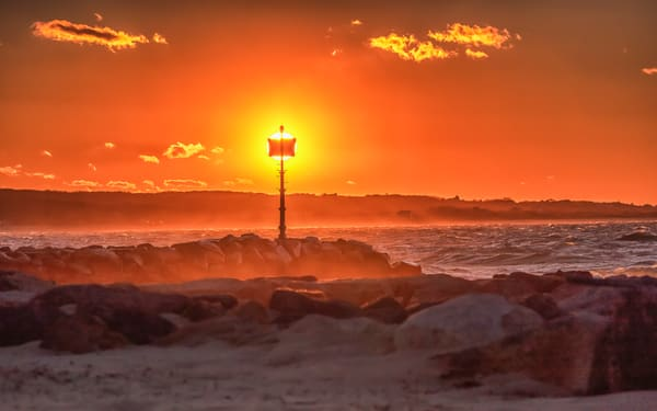 Menemsha Getty Fire Sunset Art | Michael Blanchard Inspirational Photography - Crossroads Gallery