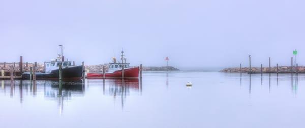 Menemsha Fog Panorama Art | Michael Blanchard Inspirational Photography - Crossroads Gallery