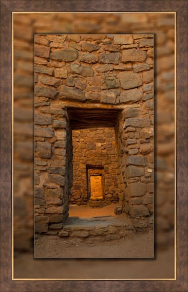 Aztec Doorway Pano 3d Bronze Wide