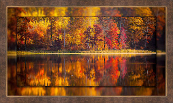 Fall Reflection Pano 3d Bronze Wide