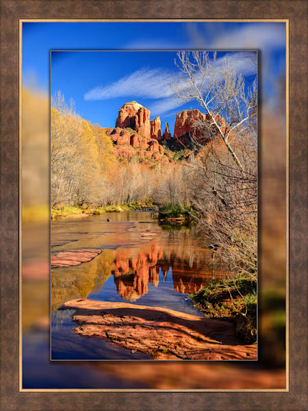 Sedona Cathedral Rock Blue V 3D Bronze Wide