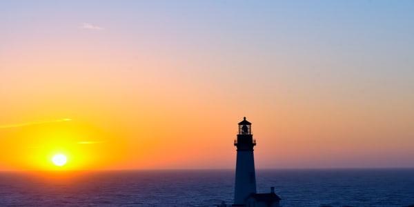 Sunset Yaquina Head Lighthouse