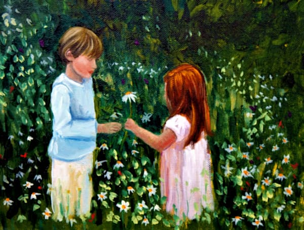 Little sweethearts fine art open edition print