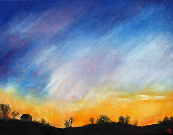 Winter Dusk Fine Art print by Hilary J. England