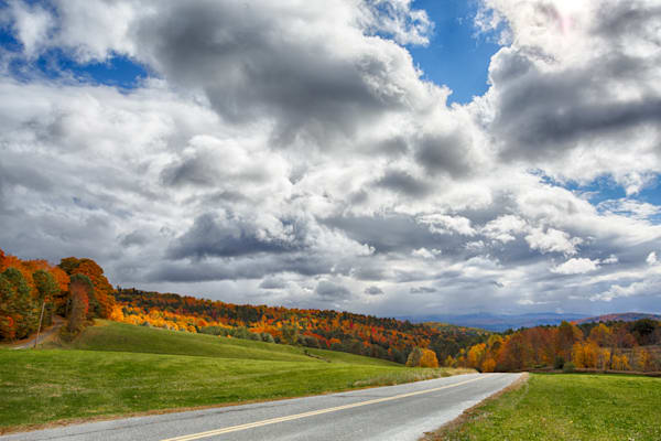 A Road into Vermont Fall