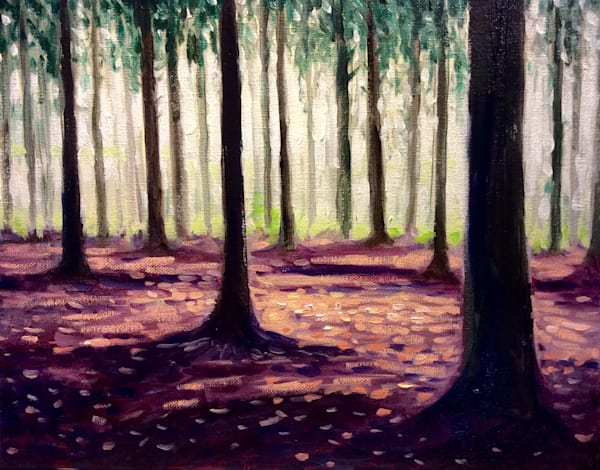 Northern forest in winter fine art open edition print