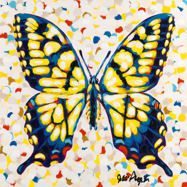 Butterfly II is a print an acrylic painting by Jodi Augustine.