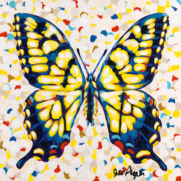 Original acrylic painting of a butterfly by Jodi Augustine.