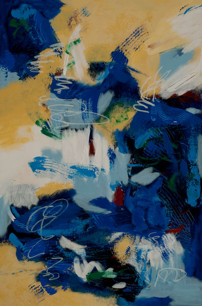 Lifted Spirit, a contemporary, acrylic abstract painting by Jana Kappeler