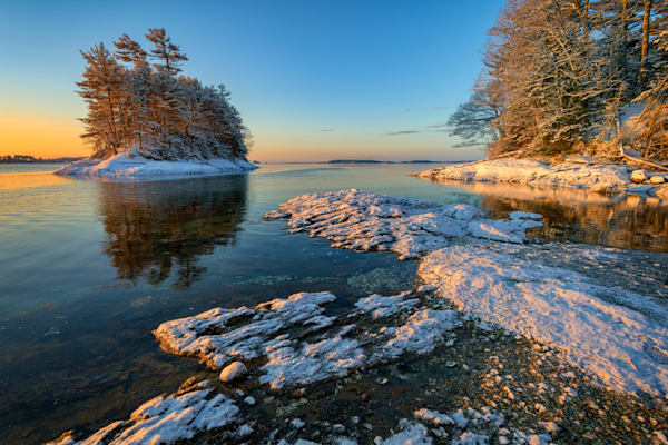 Dusting of Snow at Wolfe's Neck Woods by Rick Berk