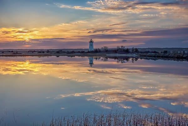 Edgartown Light Winter Reflection Art | Michael Blanchard Inspirational Photography - Crossroads Gallery