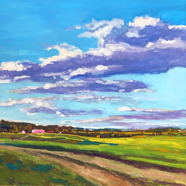 Fine Art Landscape Paintings & Prints | Farms, Rolling Pastures and Blue Skies