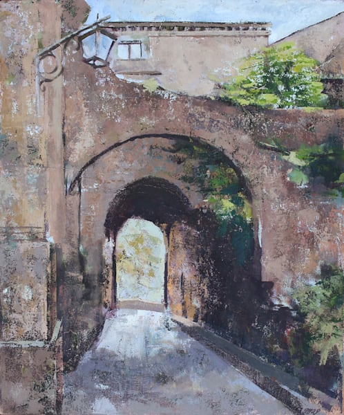 Original Bagnoregio Oil Painting