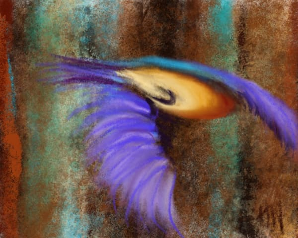 Color In Flight, digital pastel painting