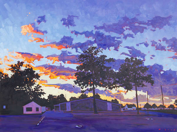 Sunset Series: 1. Stuttgart, AR, original oil on canvas painting, by Matt McLeod.