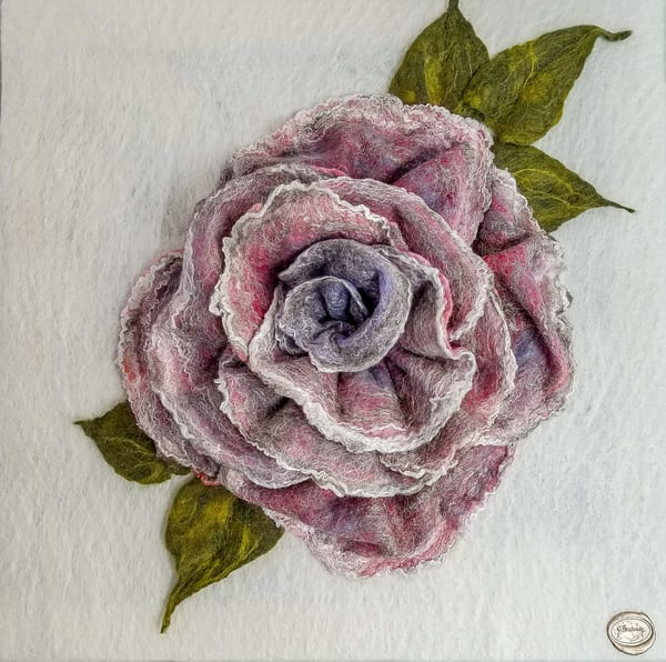 Mom's Silver Rose Art | FeltinArt